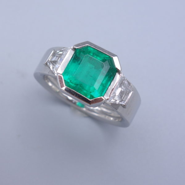 bague emeraude art deco