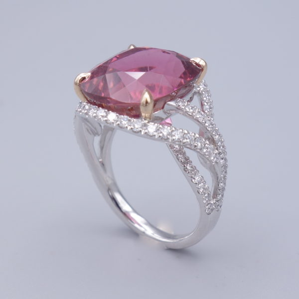 bague tourmaline et diamants