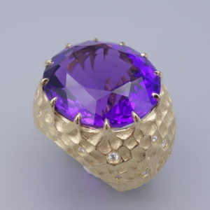 bague amethyste or jaune