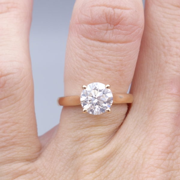 solitaire 2 carats occasion