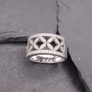 Bague diamants bandeau