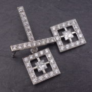 Boucles d'oreilles diamants princesse