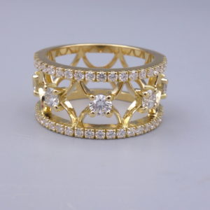 bague bandeau or jaune