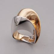 BAGUE MOBIUS OR ROSE ET OR GRIS