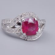 Bague sarah or gis Rubis et diamants